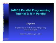 R in Parallel - TAMU Computer Science Faculty Pages - Texas A&M ...