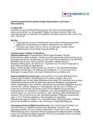 Versicherungsschutz für gemeinnützige Organisationen (und deren ...