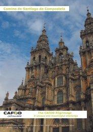 Registration form: Santiago de Compostela pilgrimage - Cafod
