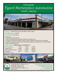Tigard Marketplace Automotive - Commercial Realty Advisors