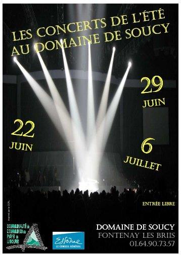 Programme des concerts de l'été
