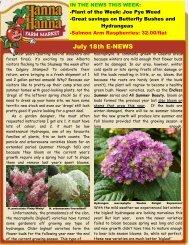 July 18th E-NEWS - Hanna & Hanna Orchards