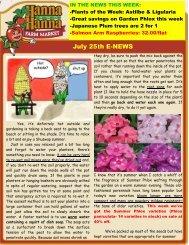 July 25th E-NEWS - Hanna & Hanna Orchards
