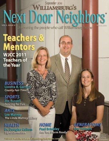 September - Williamsburg , VA Magazine , Next Door Neighbors