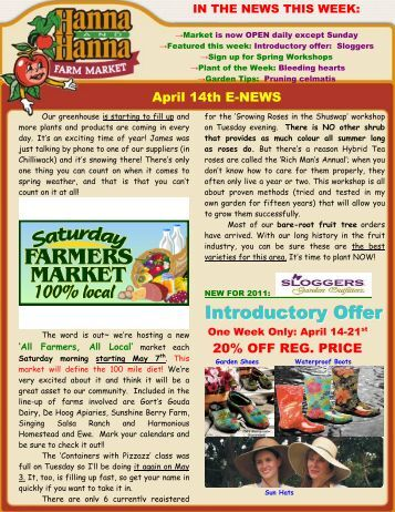 Introductory Offer - Hanna & Hanna Orchards