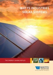WATTS induSTrieS SOLAr SYSTeMS