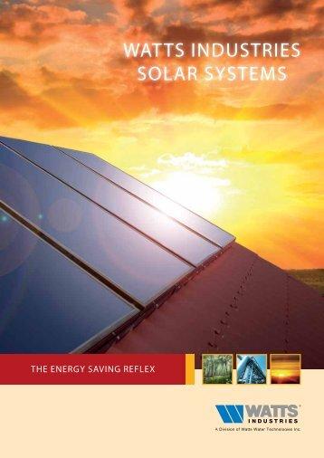 WATTS induSTrieS SOLAr SYSTeMS