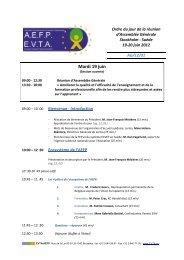 Mardi 19 juin - EVTA