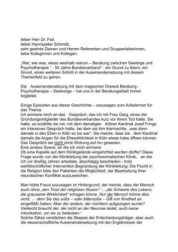 Begrüßung Erhard Schol - Bundesverband Katholischer Ehe ...