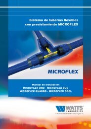 Sistema de tuberías flexibles con preaislamiento ... - Watts Industries