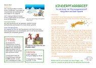 Kinderpfarrbrief - Katholische Pfarrgemeinden Heilig Geist und ...