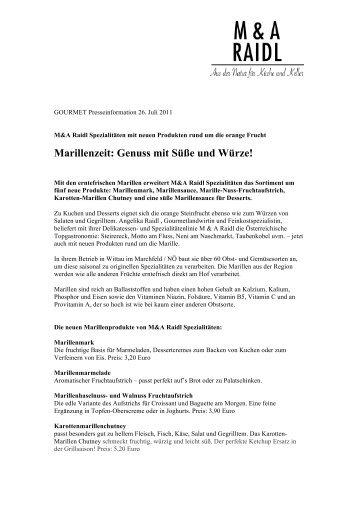 Marillenzeit: Genuss mit Süße und Würze! - GeschichtenWerk