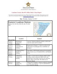 Daily Crime Report - Loudoun County Sheriff's Office