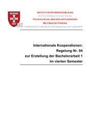 Regelung Nr. 04 zur Erstellung der Bachelorarbeit 1 im vierten ...