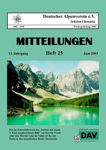 Heft 25-innen.PMD - DAV Sektion Chemnitz