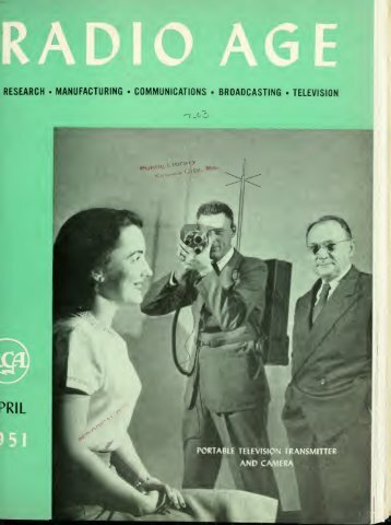 Radio Age - 1951, April - 34 Pages, 3.0 MB, .PDF - VacuumTubeEra