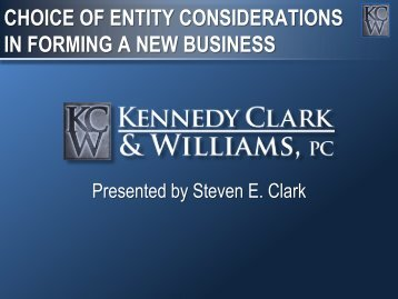 Choice of Business Entities in Texas - Dallas Bar Association