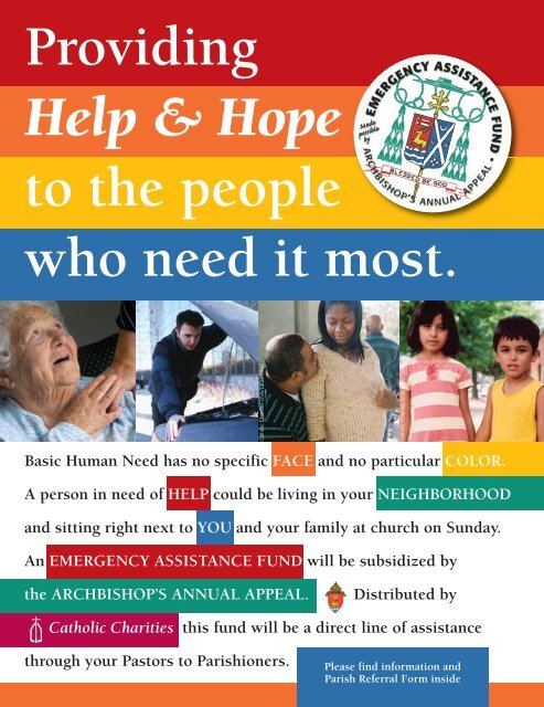 Parish Referral Form - Catholic Charities