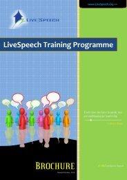 LiveSpeech Training Programme - Advertise.com.ng