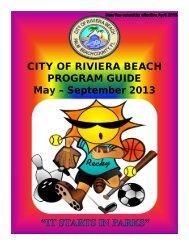 Summer Program Flyer 2013 - City of Riviera Beach