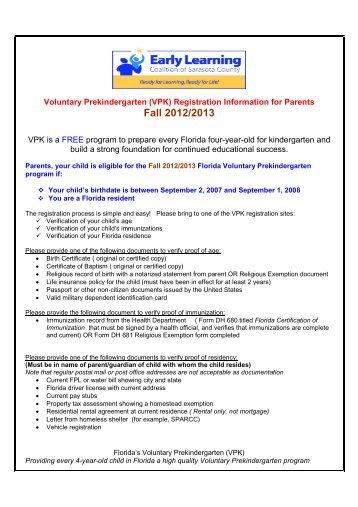 Vpk Provider Agreement Addendumpdf Early Learning Coalition