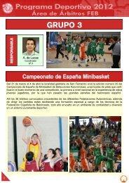 Programa Deportivo 2012 GRUPO 3 - club del entrenador