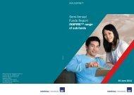 Semi-Annual Funds Report - AXA Life Insurance Singapore