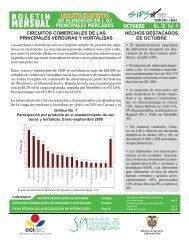 Boletín Mensual Abastecimiento de Alimentos en los ... - Agronet