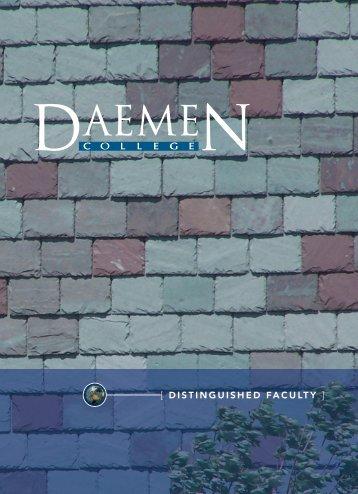 [ DISTINGUISHED FACULTY ] - Publications - Daemen College