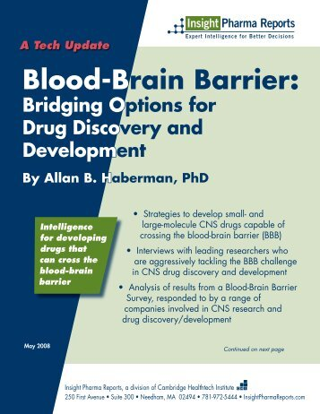 Ts Blood-Brain Barrier - Insight Pharma Reports