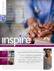 inspire, Spring 2013 - Mount Carmel Foundation