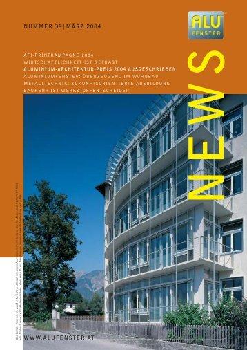 4013 Afi News 39 - Aluminium Fenster Institut