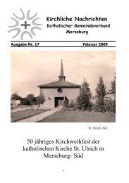 Ausgabe Nr. 17, Februar 2009 ( PDF -Datei, 373 kB) - Katholische ...
