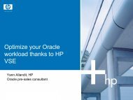 Optimize your Oracle workload thanks to HP VSE - HrOUG