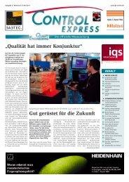 in der Messezeitung Control - Tqu-group.com
