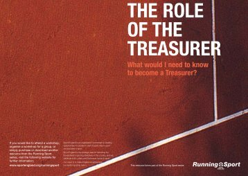 THE ROLE OF THE TREASURER - Sport Wales