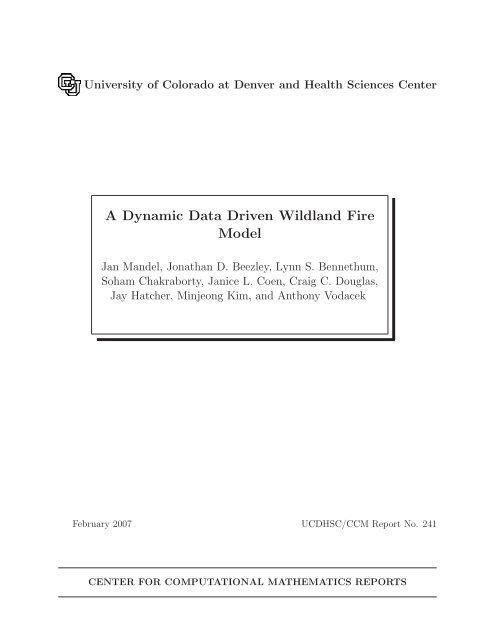 A Dynamic Data Driven Wildland Fire Model - CiteSeerX