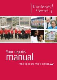 Your repairs - Eastlands Homes