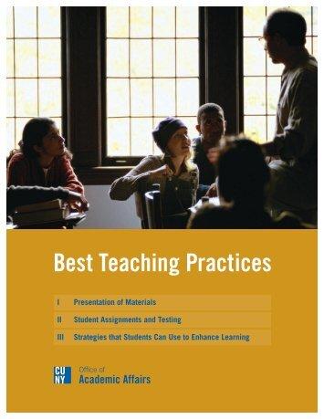 Best Teaching Practices - Units.muohio.edu