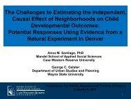 Presentation PDF - Mandel School of Applied Social Sciences ...
