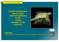 Crustal architecture, source rocks, and fluid pathways in the central ...