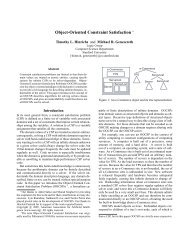 Object-Oriented Constraint Satisfaction - Stanford Logic Group ...