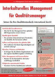 Seminar: Interkulturelles Management für Qualitätsmanager ...