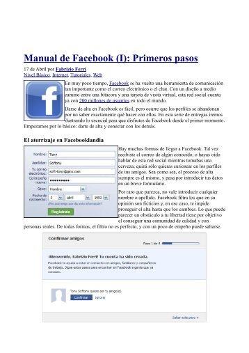 Manual de Facebook (I): Primeros pasos