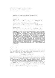 Advances in radiatively driven wind models - Universitäts ...