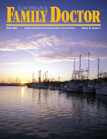 *LA Family Physician V16#2 03 - Louisiana Academy of Family ...