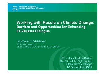 Working with Russia on Climate Change: