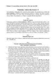 Podmínky výběrového řízení č. 5 - Praha 3