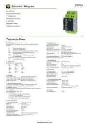 E3ZI20 Zeitrelais - Taktgeber Technische Daten