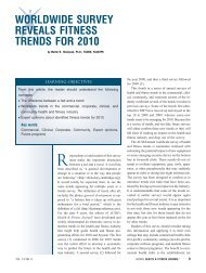 worldwide survey reveals fitness trends for 2010 - ResearchGate